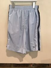 Nike Boys Light Blue Swimming Shorts Size M With Zip Pocket Very Good Condition