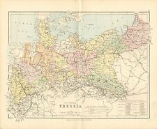 1887 ANTIQUE MAP- THE KINGDOM OF PRUSSIA