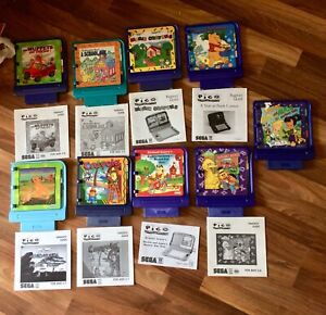 Sega Pico - 9 Different Games - Cartridge 8 With Parent Guide- Lion King Muppets