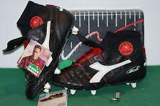 vintage Diadora Supergoal SC Van Basten hi-top Football Boots VTG Milan Italy 90