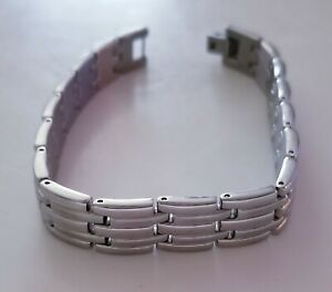 Men Women Silver Bracelet Genuine CITIZEN Chain link Stainless Steel 8 1/2 inc