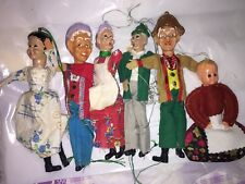 Stock Lotto Bamboline Marionette Vintage
