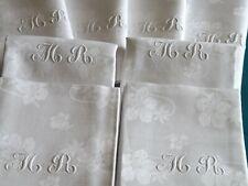 SUPERBE service, nappe (2 m X 2.83 m) + 12 serviettes, PUR fil de lin, ancien