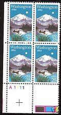 2404 Plate block 25cent Washington state 1889 Olympia
