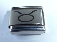 TAURUS Italian Charm - Zodiac Bull Sign April May fits 9mm Starter Bracelets