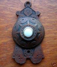"""New Victorian Eastlake """"Stencil"""" Doorbell Button"""