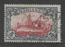 1901 German colonies Mariana Islands 5 Mark issue used, Michel # 19 , $ 703.00