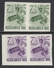 Netherland Indies 7 1/2c  Dancer-PROOFs in Pair UNG  VF