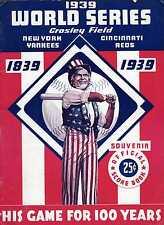 1939 World Series program New York Yankees v Cincinnati Reds Crosley Field CLEAN