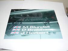 Johnny Herbert / David Brabham / Mark Blundell  Signed Photo 4