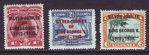 Cook Islands 1935 SC 98-100 MH Set Silver Jubillee