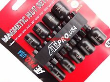 9 PC SAE MAGNETIC NUT DRIVER SETTER SET POWER  BITS FOR DRILLS HEX SHANK