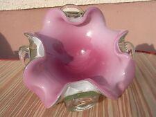 Rosa Murano barovier & toso vidrio Design cáscara 2,1 kg olas glass bowl 1950 ~ 60