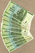 Zimbabwe 10 Trillion Dollars x 10 pcs AA 2008 P88 VF currency bills