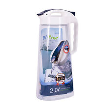 4 X 1.3L hermético Plástico Clip /& Lock Jarra de Puerta del Refrigerador para Leche Jugo De Agua Nuevo