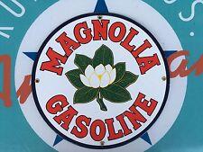 top quality MAGNOLIA GASOLINE porcelain coated 18 GAUGE steel SIGN