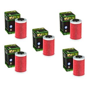 Hiflo Oil Filter 5 Pack KTM 250 400 450 520 525 EXC / 620 640 690 Duke