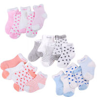 Fashion 5 Pairs Baby Boy Girl Cotton Cartoon Socks Toddler Kids Soft Sock SE