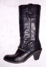 DIESEL bottes cavalières cuir noir P 37 TBE
