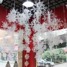 30Pcs White Snowflake Ornaments Christmas Holiday Home Party Decor Random Size