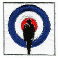 Iron On/ Sew On Embroidered Patch Badge Quadrophenia MOD Target Roundal