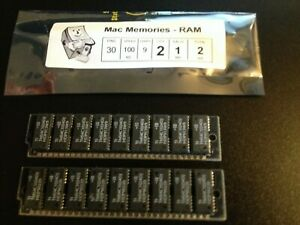 2x 1MB 30-Pin 9-chip Parity 100ns FPM SIMM CLASSIC SE RAM Memory Apple Macintosh