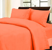 1000 Thread Count Glamorous Orange Duvet Collection Solid Select Item & AU Size