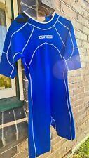 2 Wetsuits - Large Size - 1 short leg and short arm blue new & 1 vest black used