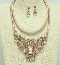 Rose Gold Crystal FASHION Necklace Set