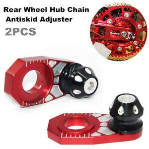 2x Motorcycle Rear Hub Wheel Chain Antiskid Adjuster Parking Automatic Regulator