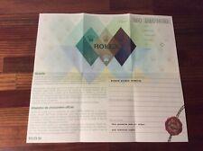 Rolex Masterpiece 80319 Garantie Paper 564.01 + FREE SHIPPING