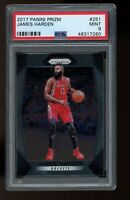 2017 Panini Prizm #251 James Harden Houston Rockets New Jersey Nets PSA 9 MINT