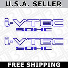 [#35] 2x Blue i-VTEC SOHC Vinyl Decal Stickers Emblem Honda Acura ivtec