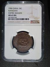 1906 China Kiangnan Province 10 Cash, NGC MS 63