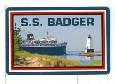 """Single Playing Card """"SS Badger with lighthouse"""" Shipping/Steamship"""