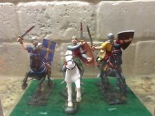 Toy Soldiers 3 Plastic 70mm Medieval Knights on Horseback