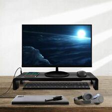 Monitor Stand Computer Laptop Screen Riser Usb Multifunction Base Holder Desktop