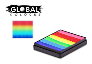GLOBAL 50G SPLIT CAKE BRIGHTEST RAINBOW Face and Body Paint cool!!!!