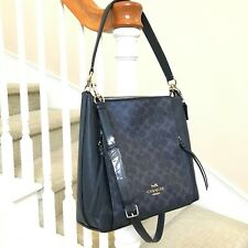 New Coach Signature Marlon Hobo Shoulder Crossbody Bag 91526 Denim