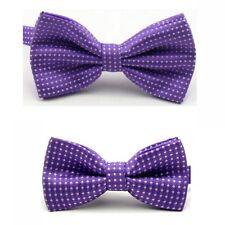 Men Child Boy Kid White Polka Dot Adjustable Wedding Bowtie Bow Tie Necktie Set