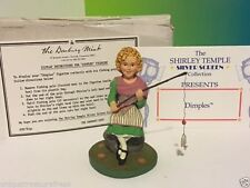 Danbury Mint Shirley Temple Figurine Sculpture Nib Box Coa Dimples Fishing Pole