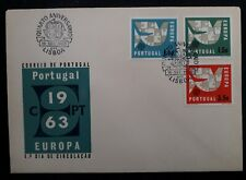 1963 Portugal Europa CEPT FDC ties set of 3 stamps cancelled Lisbon