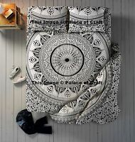 Indian Luxury 4 Pc Mandala Bedding Set Duvet Cover With Bed Sheet & Pillow Shams