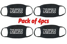 This MASK Is USELESS Face Cover 4pcs Lot Fabric Cotton Cloth Funny Humor V760