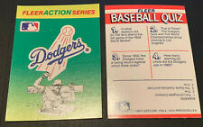 1990 Fleer Baseball Sticker Card Los Angeles Dodgers Action Series Vintage LA