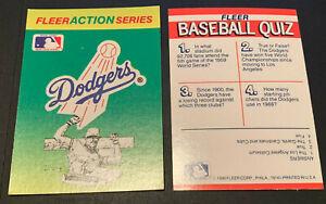 1990 Fleer Baseball Sticker Card Los Angeles Dodgers Action Series Vintage Logo
