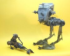 STAR WARS RARE USA TOYS R US EXCLUSIVE LOOSE IMPERIAL AT-ST & SPEEDER BIKE.C-10+