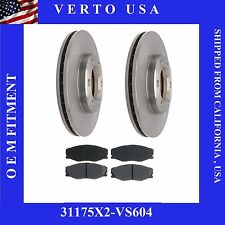 Set OF 2 Front Brake Rotors & Pads Fit Toyota T100 1/2 Tone 1993-1998