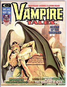 VAMPIRE TALES #8 (Dec 1974, Curtis/Marvel) 1st Solo BLADE Story! VERY Nice Copy!