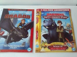 How to Train Your Dragon / Gift Of The Night Fury and Book Of Dragons 2 x DVD